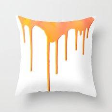 Orange Splatter Throw Pillow