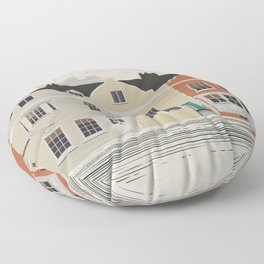 Lombard St. Portsmouth Floor Pillow