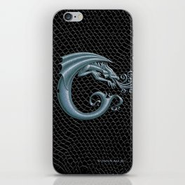 Dragon Letter C, from Dracoserific, a font full of Dragons. iPhone Skin