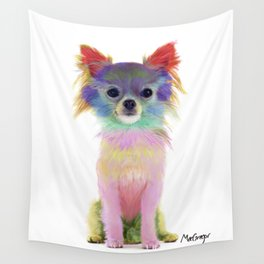 Colorful Chihuahua Wall Tapestry