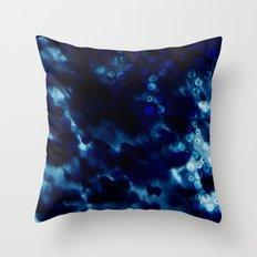 Shibori Seas Throw Pillow