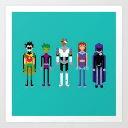 Teenage Superheroes Art Print