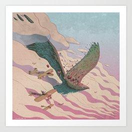 The ancient eagle Art Print