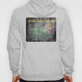 Old School Periodic Table Of Elements - Chalkboard Style Hoody