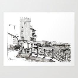 Genova Pegli, castelluccio sul mare Art Print