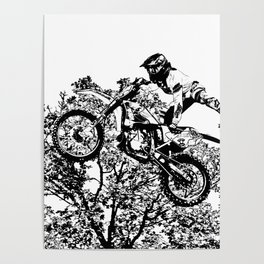 Stealing the Air - Freestyle Motocross Rider Poster