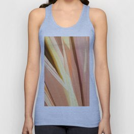 Peach and Coral Palm Leaves Abstraction Unisex Tank Top