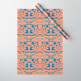 Sewing Symmetry Wrapping Paper