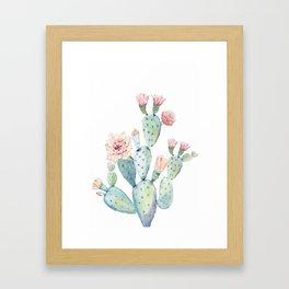 Cactus 2  White #society6 #buyart Framed Art Print