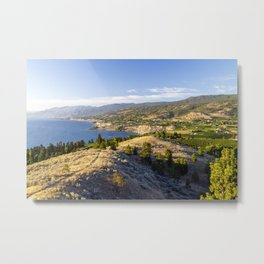 Penticton Naramata Bench Okanagan Valley Vineyard Metal Print