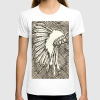 headdress T-shirts featuring Headdress Sketch by sonja530