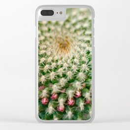 Cactus close-up shot, natural abstract background Clear iPhone Case
