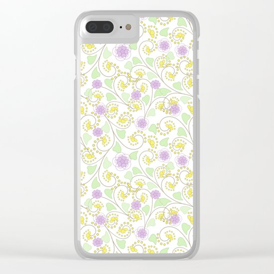 Cute floral pattern . Clear iPhone Case