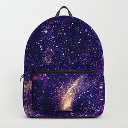 Ultra violet purple abstract galaxy Backpack