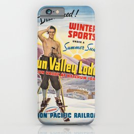 Vintage poster - Sun Valley, Idaho iPhone Case