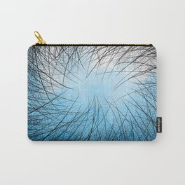 Cyan Linear Crosshatch Carry-All Pouch