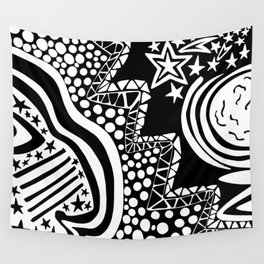 Soul Of The Dream Desert - Star Gazer (Black and White Edition) Wall Tapestry