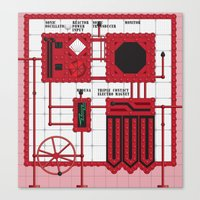 rocky horror Canvas Prints featuring Rocky Horror Control Panel by Shawn Hall Design