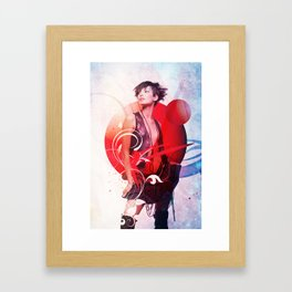 Data Kiss Framed Art Print