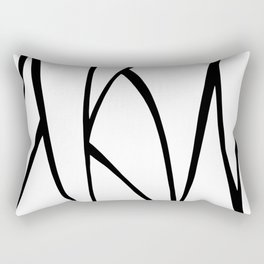 Modern Sweeping Line Art Print Rectangular Pillow