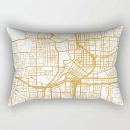ATLANTA GEORGIA CITY STREET MAP ART Rectangular Pillow