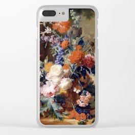 "Jan van Huysum ""Still life"" Clear iPhone Case"