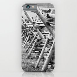Gettysburg zigzag wooden fence iPhone Case