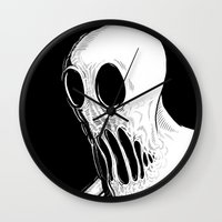 tokyo ghoul Wall Clocks featuring Ghoul by Francisco Martinez