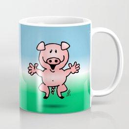Cheerful little pig Coffee Mug