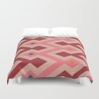 kilim Duvet Covers featuring Kilim in pink by Domesticate