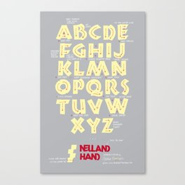 Neuland Hand Exemplar with Ductus Canvas Print
