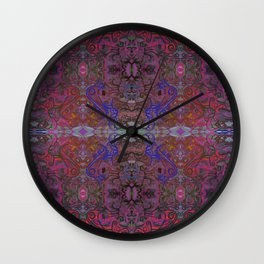 There Are Cats Pattern Wall Clock