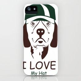 I Love My Hat iPhone Case