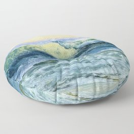 The Wave By Albert Bierstadt | Reproduction Painting Floor Pillow