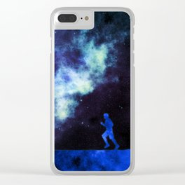 Cosmic Runner Clear iPhone Case