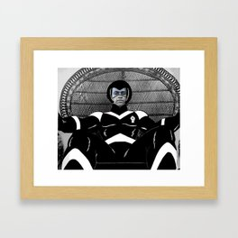 Huey Wicker Chair (Black Panther Party Power Framed Art Print