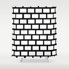 Funn black an white wall Shower Curtain