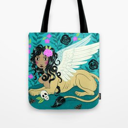 Night Sphinx Tote Bag
