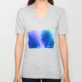 Blue Splash Abstract Unisex V-Neck