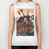 samurai Biker Tanks featuring Samurai by RICHMOND ART STUDIO