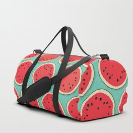 watermelon polka mint Duffle Bag
