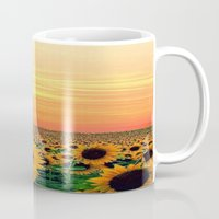sunflower Mugs featuring Sunflower by Don't Be A Dick
