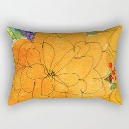 upward orange flowers Rectangular Pillow