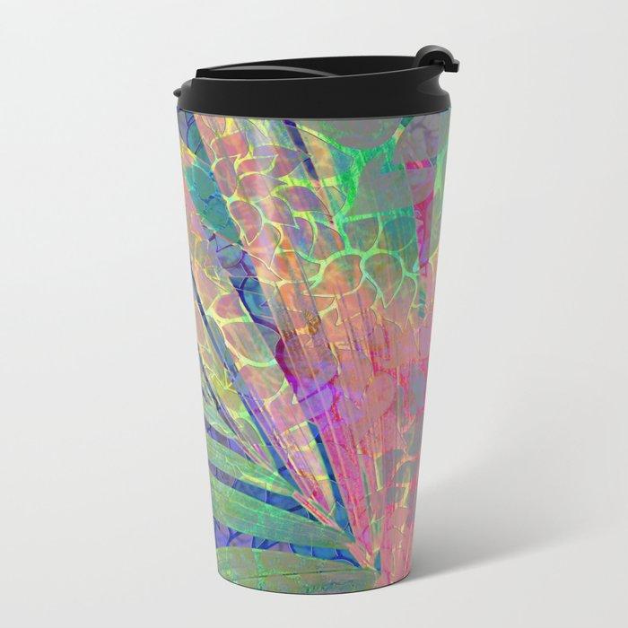 Summer Pattern #8 Metal Travel Mug