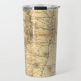 Vintage Map of Washington State (1866) Travel Mug