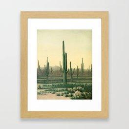 Cactus Landscape Framed Art Print