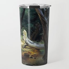 Horace Vernet Departure for the Hunt in the Pontine Marshes Travel Mug