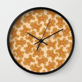 Gingerbread Man Cookies Wall Clock