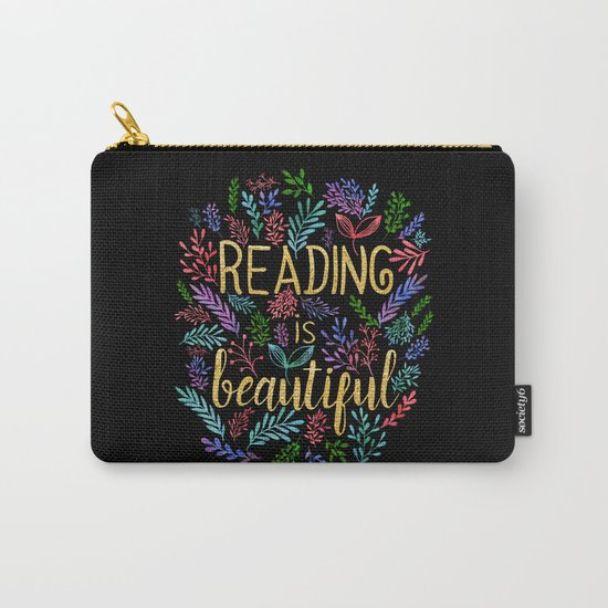 Reading is Beautiful - Gold Foil Carry-All Pouch