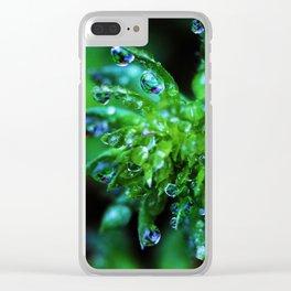 Dew Drop Succulent Clear iPhone Case